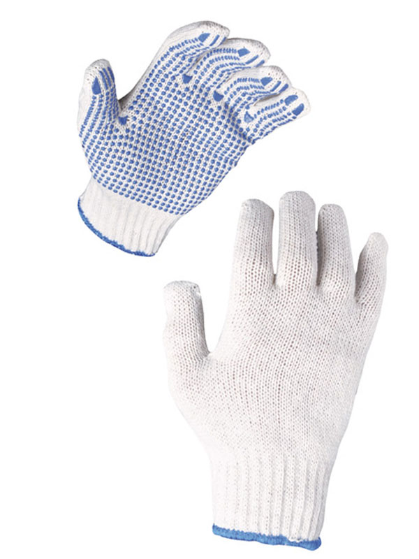 Guantes punto poliester - algodón