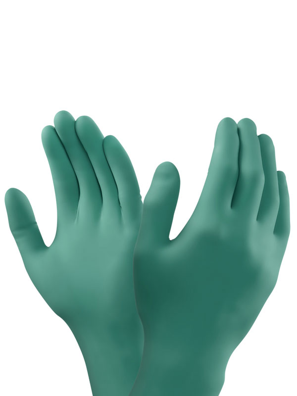 Guante desechable nitrilo gentle touch hq green pf  6.0gr