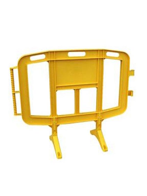 Valla de señalización de 1.260x1021 mm. amarilla mod. cpvalla1200
