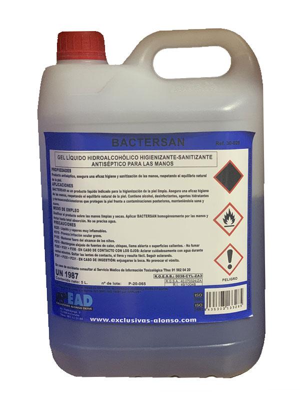 Garrafa de 5 litros de desinfectante solución antiséptica
