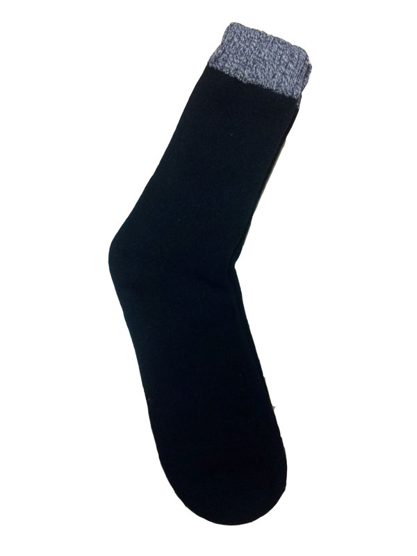 Calcetín  negro con puño gris vigorei mod. 550