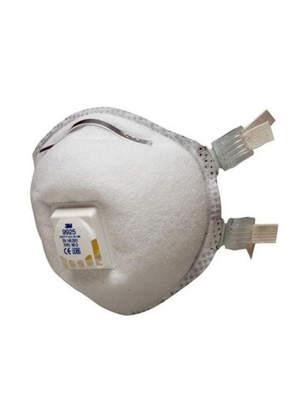 3m 9925 mascarilla ffp2 nr d con válvula para soldadura y ozono
