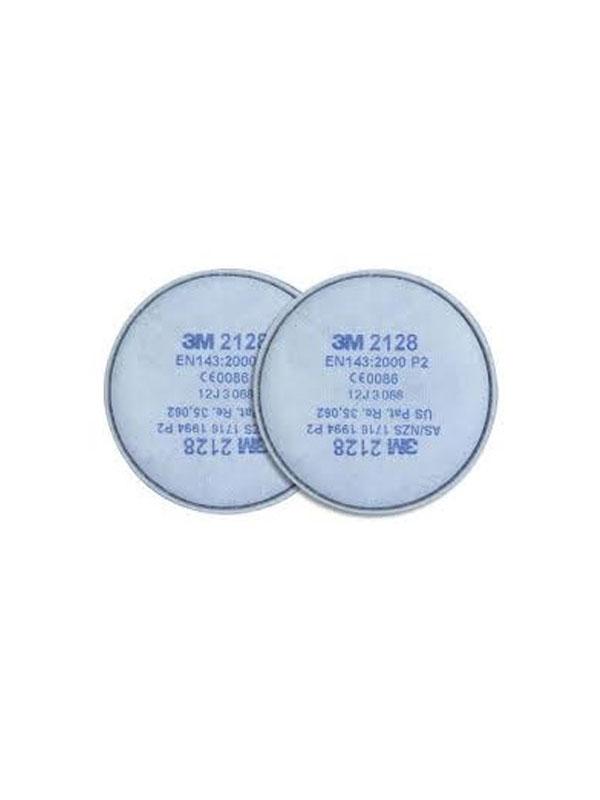 3m 2128 filtro p2r, vapores orgánicos y gases ácidos < vla, ozono