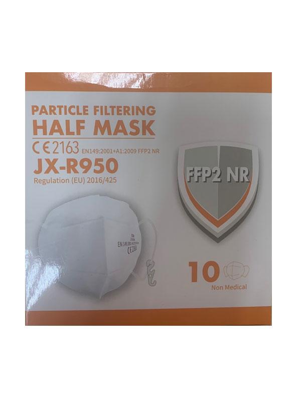 Mascarilla autofiltrante ffp2nr vertical modelo half mask jx-r950