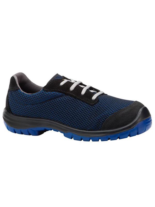 Zapato de seguridad deportivo modelo runner color azul