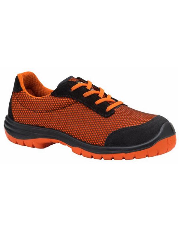 Zapato de seguridad deportivo modelo runner color naranja