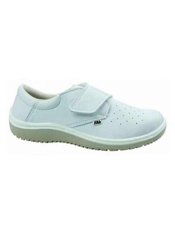 Zapato mujer conil blanco perforado