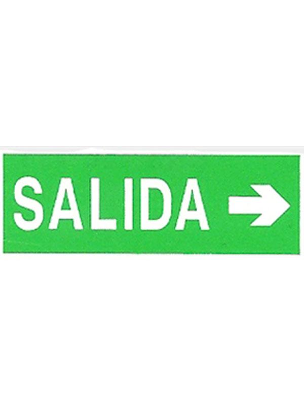 SEÑAL LUMINISCENTE SALIDA FLECHA DCHA. REF. ESH 727 DE 297X105