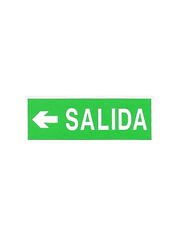SEÑAL LUMINISCENTE SALIDA FLECHA IZQUIERDA REF. ESH 731 DE 297X105