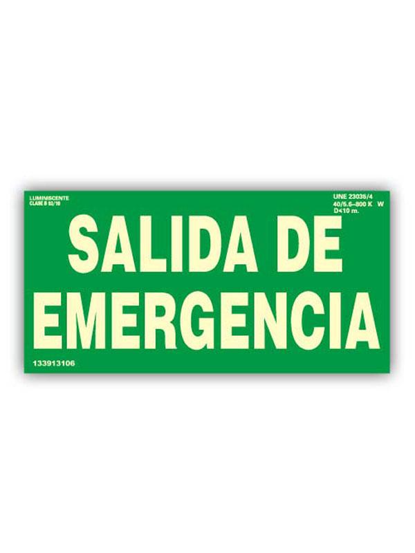 SEÑAL LUMINISCENTE SALIDA DE EMERGENCIA DE 420X297