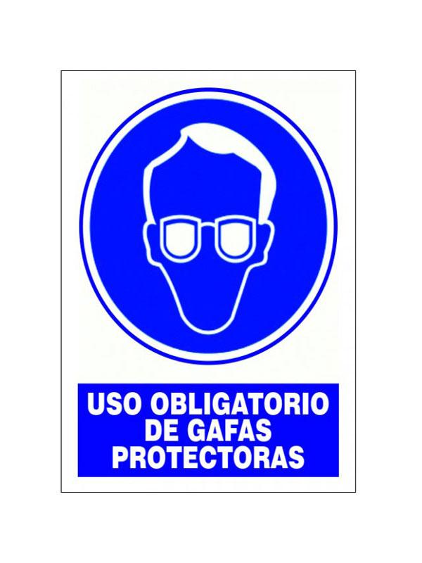 SEÑAL USO OBLIGATORIO DE GAFAS PROTECTORAS
