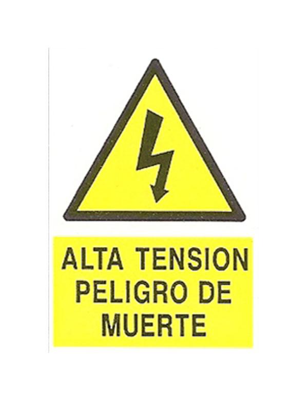 SEÑAL ALTA TENSIÓN PELIGRO DE MUERTE REF.  APR 369 DE 170X250
