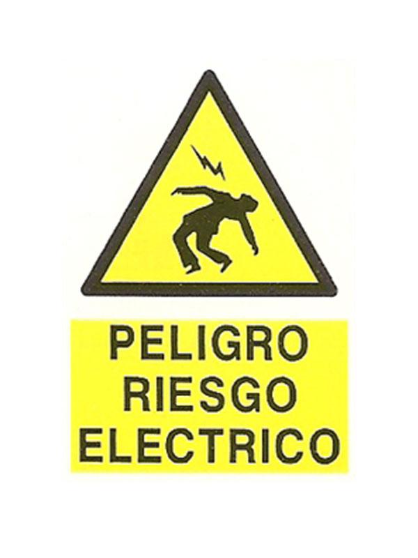 SEÑAL PELIGRO RIESGO ELÉCTRICO REF. APR 252 DE 297X420
