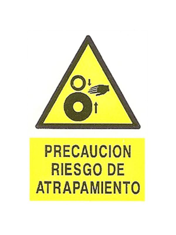 SEÑAL PRECAUCIÓN RIESGO DE ATRAPAMIENTO REF. APR DE 374 230X340