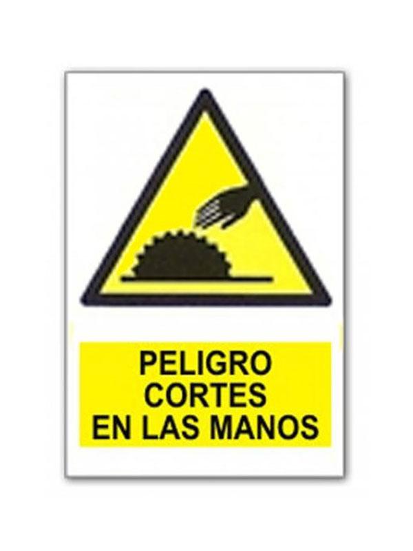 SEÑAL PELIGRO CORTE EN LAS MANOS REF. APR 408 DE 230X340