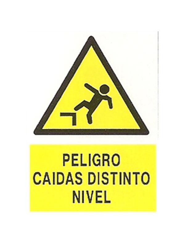 SEÑAL PELIGRO CAÍDA DISTINTO NIVEL REF. APR 271 DE 230X340