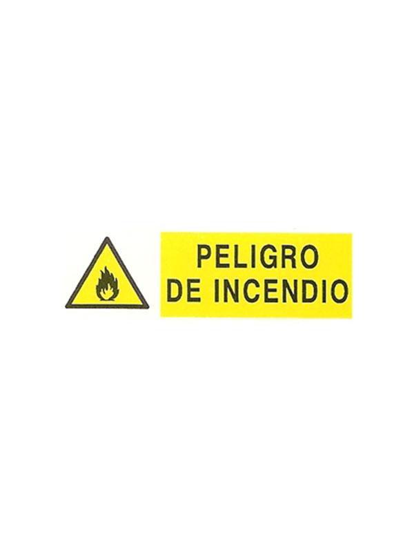 SEÑAL PELIGRO DE INCENDIO REF. APH 381 DE 180X440