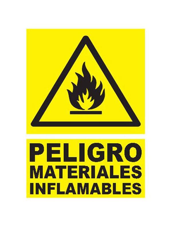SEÑAL PELIGRO MATERIAL INFLAMABLE REF. APR 339