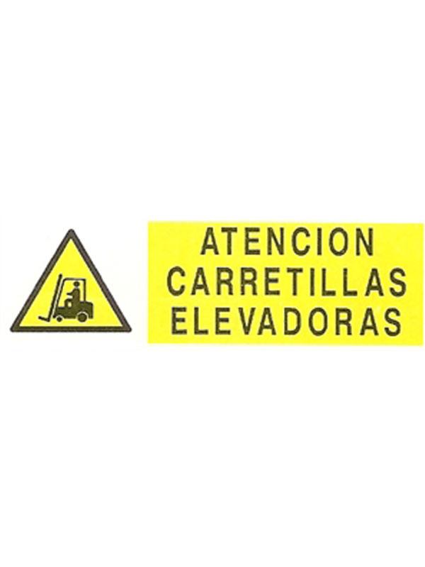 SEÑAL ATENCIÓN CARRETILLAS ELEVADORAS APH 371 DE 180X440