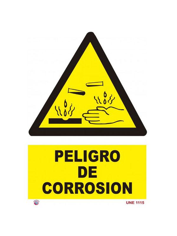 SEÑAL PELIGRO DE CORROSIÓN REF. APR 257 DE 230X340