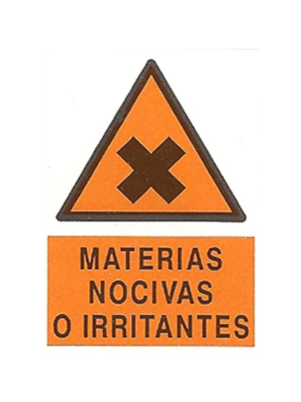 SEÑAL MATERIAS NOCIVAS O IRRITANTES REF. APR 366 DE 230X340