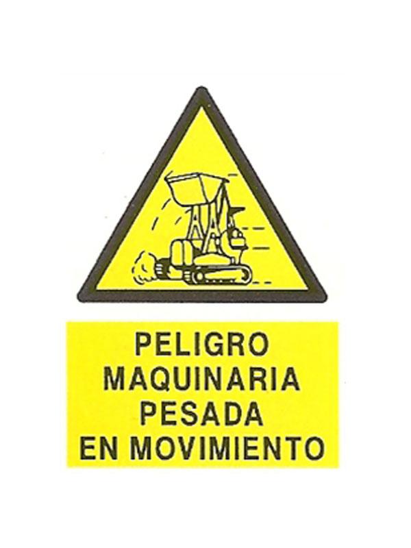 PELIGRO MAQUINA PESADA EN MOVIMIENTO APR399 DE 230X340