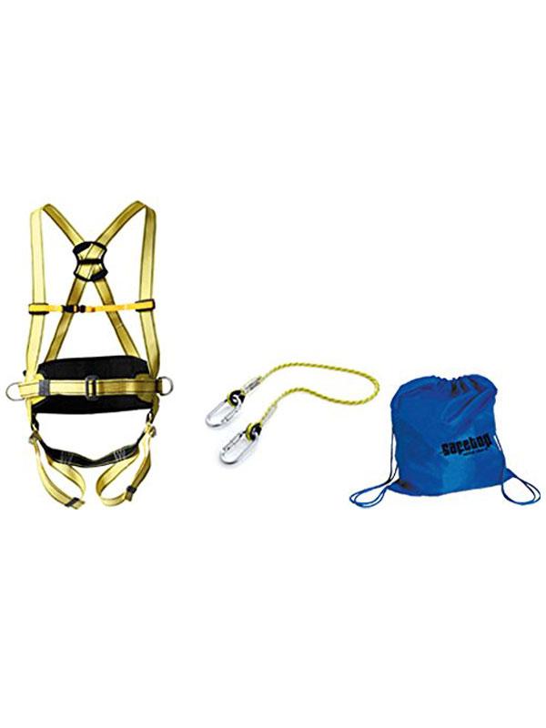 Arnés de trabajo mod. kenia con cuerda, 2 mosquetones y bolsa ead ref. 80069-80103-80112