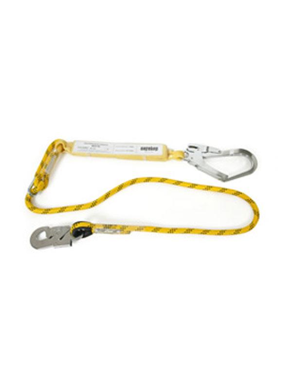 Asorbedor+cuerda de 1,5m con 3 mosquetones ref. 80216