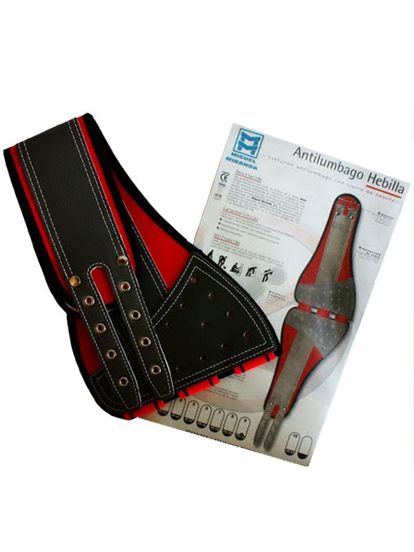 Cinturón anti-lumbago con hebilla