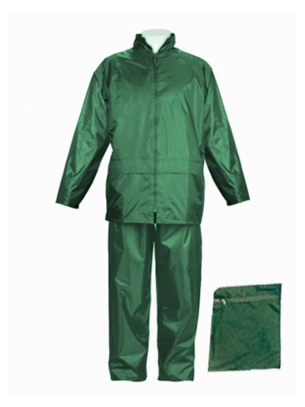Conjunto nylon pvc verde