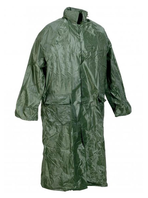 Impermeable largo nylon pvc verde 461030