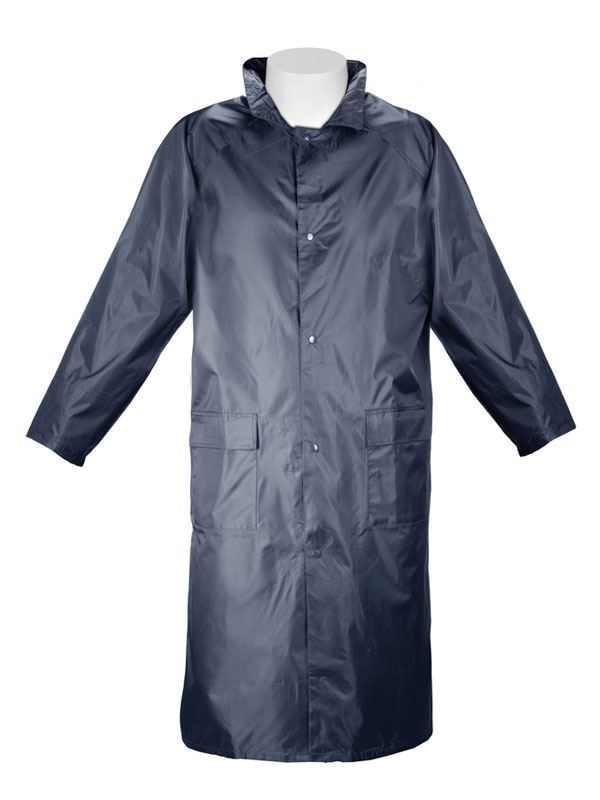 Impermeable largo nylon pvc azul 461031