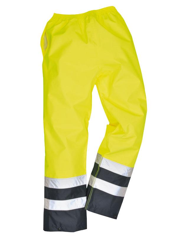 Pantalón impermeable alta visibilidad bicolor mod. s486