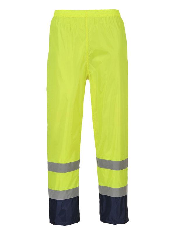 Pantalón impermeable de alta visibilidad combinado modelo h444