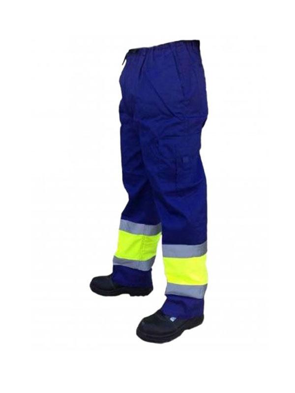 Pantalón de trabajo multibolsillos combinado/alta visibilidad  mod. 1061