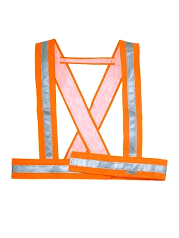 Tirantes de alta visibilidad naranja fluor