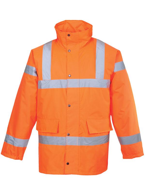 Parka de alta visibilidad modelo rt30 naranja fluor traffic