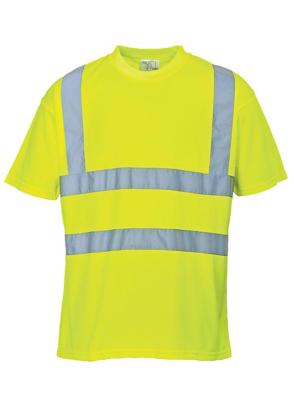 Camiseta de alta visibilidad amarillo fluor mod. s478
