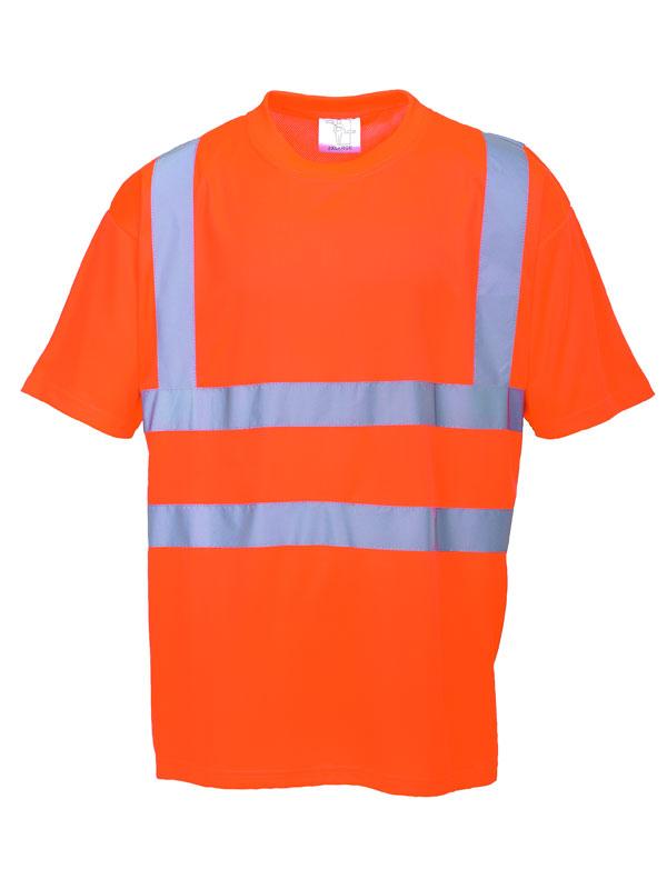 Camiseta de alta visibilidad modelo rt23 naranja fluor