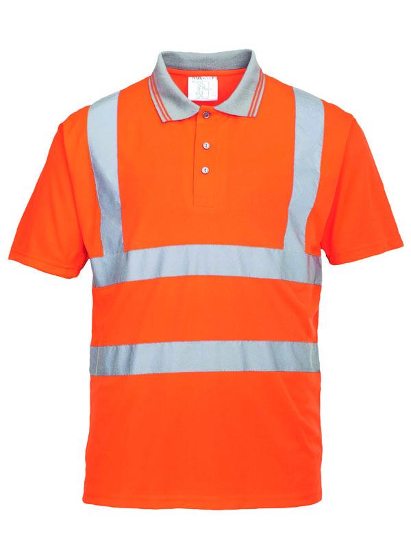 Polo de alta visibilidad modelo rt22 naranja fluor