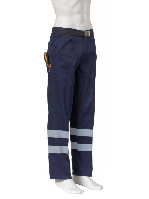 Pantalón de trabajo multi-bolsillos con doble reflectante en piernas ref.11154