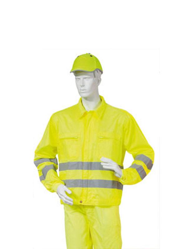 Cazadora de alta visibilidad amarilla sarga 65%pol.-35%alg.