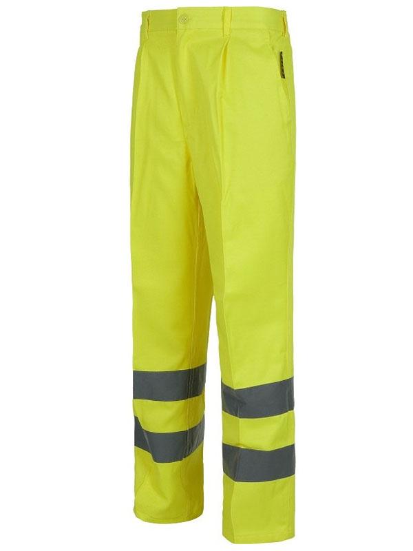 Pantalón de alta visibilidad amarillo 65% pol.-35% alg.
