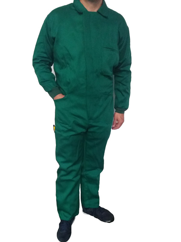 Buzo verde algodon 100% esp. de 290 gr./m2 mod. ead