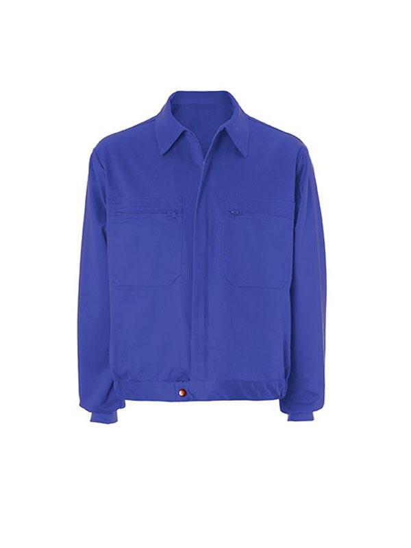Cazadora azulina 100% algodón 2 bol.