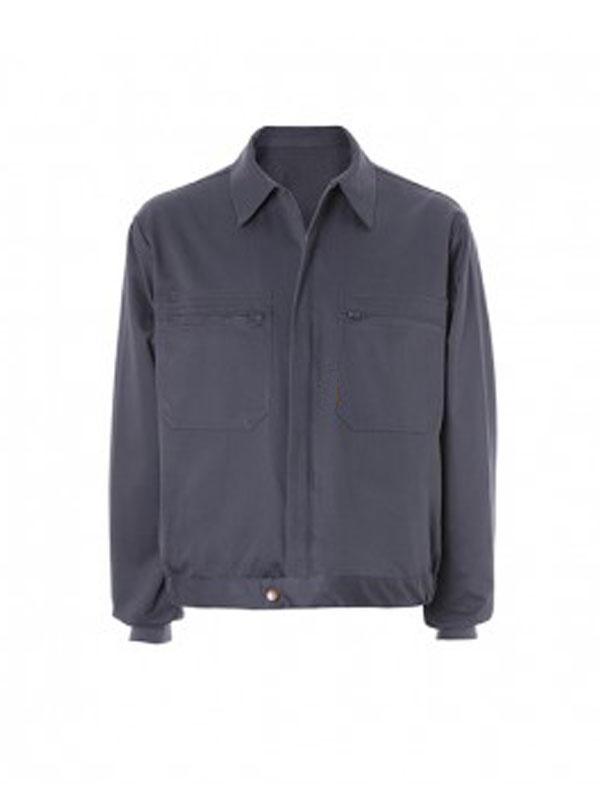 Cazadora gris 100% algodón 2 bolsillos mod. s