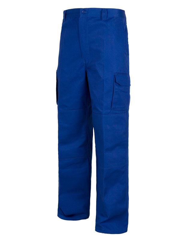 Pantalón de trabajo multi-bolsillos azulina 65-35 mod. ead