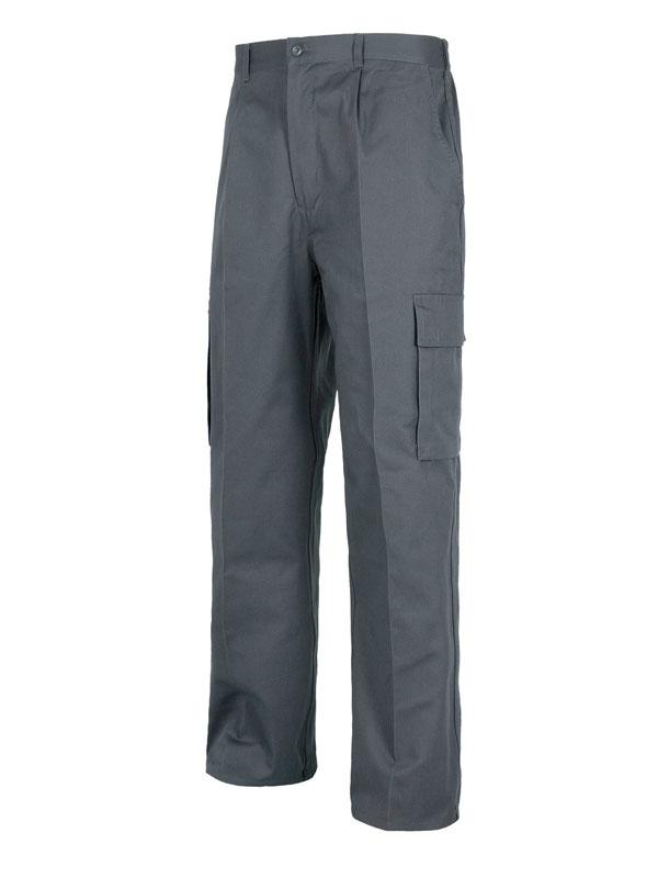 Pantalón de trabajo multi-bolsillos gris 65-35 mod. ead