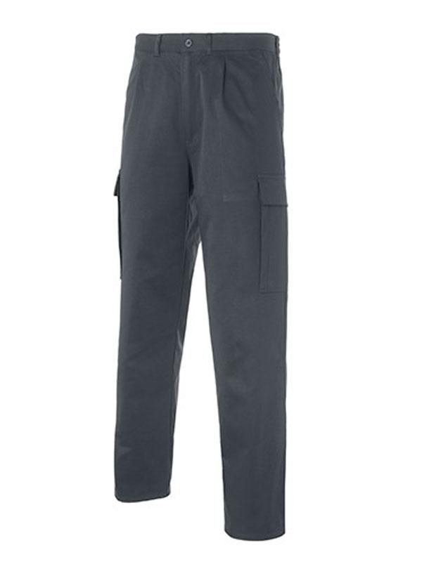 Pantalón de trabajo multi-bolsillos gris 65-35 s