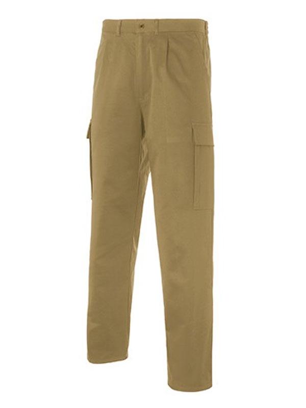 Pantalón de trabajo multi-bolsillos beige 65-35 mod. s